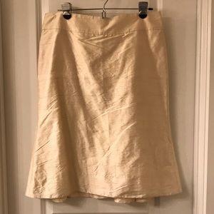 Armani Collezioni Ivory Dupioni Silk Skirt Size 8
